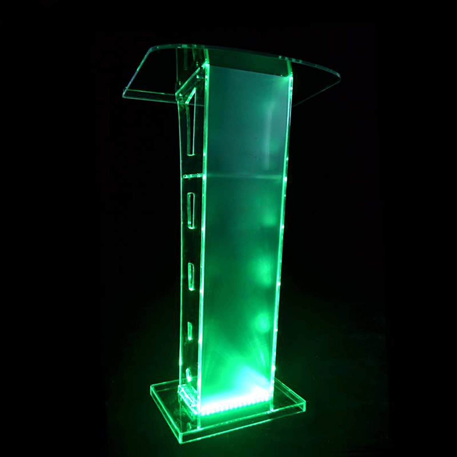 Clear Acrylic Plexiglass Podium Acrylic Lectern Conference Pulpit Acrylic Podium Clear Church Lectern Pulpit for Office//Meeting Rooms//Churches Height 110cm