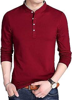[キャプテン・ケイ] カジュアルシャツ スタンドカラー 長袖 シャツ 5カラー M~4XL メンズ