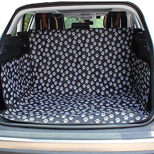 Wmk Dog Vehicle Cargo-Liner Cover, Hundesitzabdeckungs-Bett-Bodenmatte Nonslip wasserdichte Universell for Auto SUV LKW Jeeps Vans Grau (Farbe : Paw Prints A)