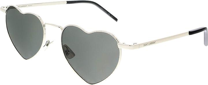 Occhiali da sole sl 301 loulou black/grey unisex saint laurent SL-301-LOULOU 001