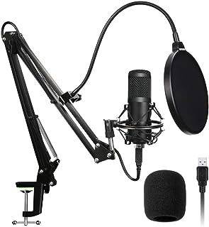 USB Microphone Kit, 192Khz / 24Bit High Sampling Rate Computer USB Microphone Bm800 Microphone Set Microphone-