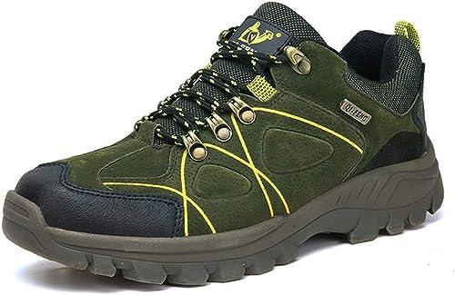 Herren Wanderschuhe Anti Slip Trainer Trekkingschuhe Low Cut Wildleder wasserdicht atmungsaktiv leichte Schuhe zum Wandern