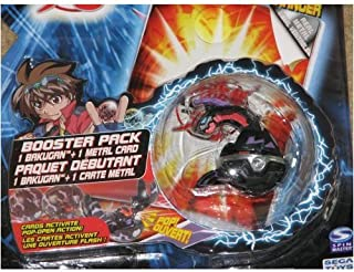 Bakugan Delta Dragonoid Black Battle Brawler Booster Pack with Metal Card