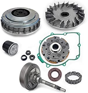 TARAZON For YAMAHA Grizzly Rhino 660 Clutch Primary Fixed Sheave/Primary Dry Clutch CVT Sheave Assy/Clutch Cover Housing/Pad Shoe/Bearing/Gasket/Flange Nut/Oil Seal/Oil Filter kit 2002-2008