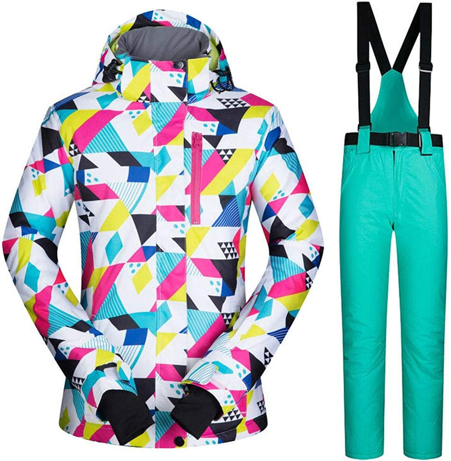 Outdoor Sports Ski Suit Jacket for Women, Comes with Windproof Neck and Windproof Cuffs, Waterproof Windproof Warm
