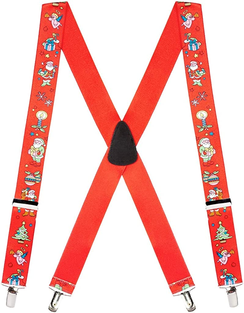 SuspenderStore Men's Santa Novelty Suspenders Christmas Sizes Topics on Popular product TV 4