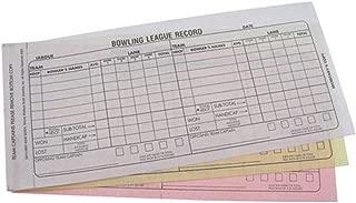 bowling recap sheets