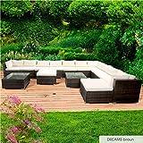 BRAST Poly-Rattan Gartenmöbel Lounge Set 14 Modelle 3 Farben 4-12 Personen Sitzgruppe Dreams Braun