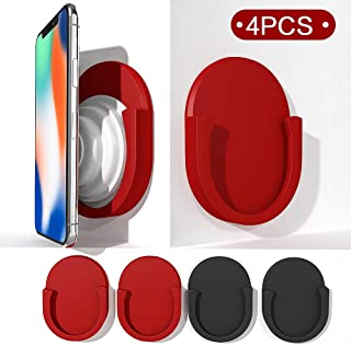GONJOY Universal Silicon Car Mount for Phone Pop Up Grip Stand and Grips,Strongest & Most Durable Dashboard Sticker Use for in Car, Home, Office(2 Black & 2 Red Inside)