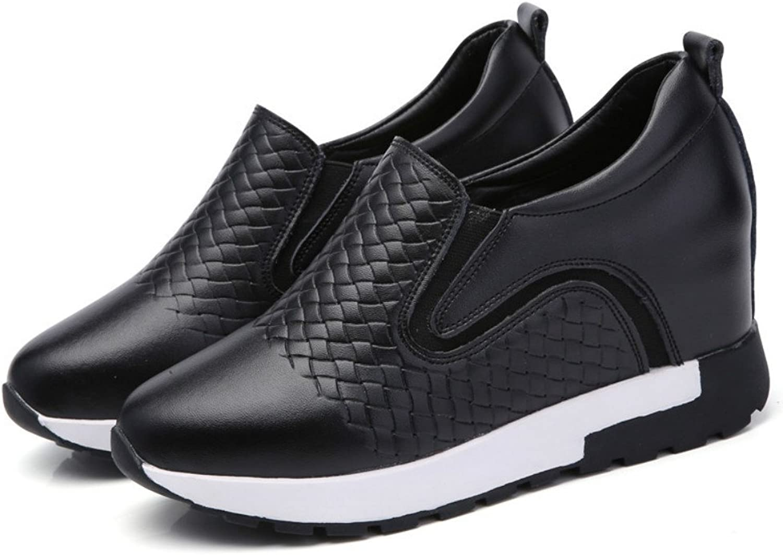 100 Points Women Platform Slip On Loafers Comfort Suede Moccasins Wide Low Top Wedge shoes Black