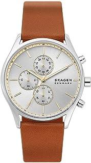 Skagen Holst Men's Silver Dial Leather Analog Watch - SKW6607