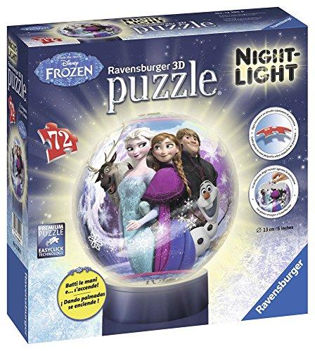 Ravensburger – 12190 – Disney Frozen 3D-puzzel-nachtlampje