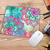DFEDFS Colorido Mandala Imprimir Soft Mouse Pad Tamaño Para 18X22Cm Velocidad Mousepad