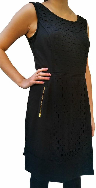APT Women's 9 Laser Cut Panel Ponte Sheath Dress