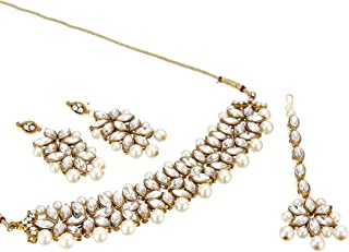 Zeneme Jewellery Sets for Women Gold Plated Bridal Necklace Jewellery Set with Earrings for Girls/Women