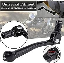 Zqasales Aluminum CNC Folding Gear Shifter Shift Lever Universal Lever Gear Shifter Knobs Start Lever Start Pedal Start Starter Lever Kick for Motorcycle Dirt Bike
