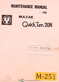 Mazak Quick Turn 20N, NC Lathe, Turning Center, Yamazaki, Maintenance and Parts List Manual