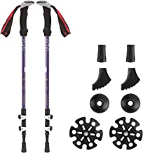 ZENITHIKE A-Quality Hiking Poles &Trekking Poles& Trekking Sticks,Adjustable Durable Lightweight Hiking Poles/Trekking Poles can be Used at All terrains and Conditions (Purple)