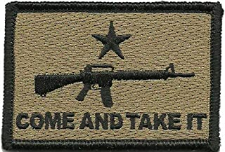 AR-15 Come and Take It Tactical Patch - Coyote Tan
