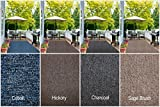 Indoor - Outdoor Area Rug Runners. Great Solution for Covering Decks, Balconies, Patios, etc. Multiple Colors (4' x 12', Charcoal)