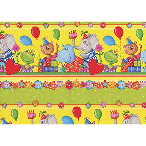 Susy Card cadeaupapier, kraftpapier, 60 g/m2, PEFC Animal party