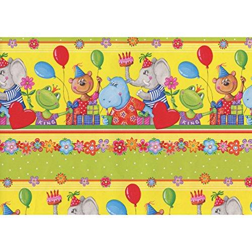 2.5 m 1er Herzlichen Gl/ückwunsch Susy Card 11142015 Gru/ßkette Metall Pappe bedruckt