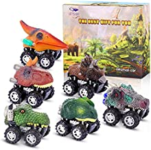 Dinosaur Toys for 3-6 Year Old Boys, Pull Back Dinosaur Cars for Kids Pull Back Vehicles Toys for Age 3-7 Boys Toy Cars Dinosaurs Party Favor Easter Gifts for Boys Age 3-6 Stocking Filler