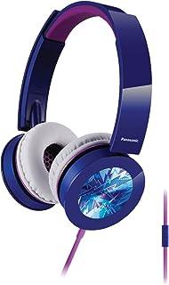Panasonic RP-HXS400M-A Sound Rush Plus On-Ear Headphones, Blue