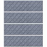 Bungalow Flooring Waterhog Stair Treads, Set of 4, 8-1/2 x 30 inches, Durable and Decorative Floor...