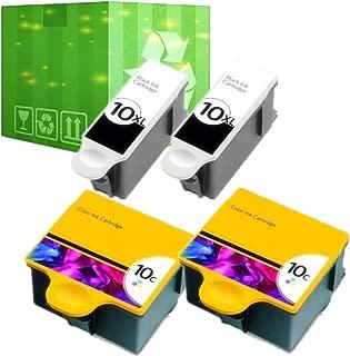 J2INK 4 Pack 10 XL Ink Cartridges for Kodak ESP 5210 7250 3250 5250 9 5 7 9250 Printer
