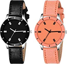 RPS FASHION WITH DEVICE OF R Analog Black Dial & Gold Capsule Fancy Watch Combo Set of 2