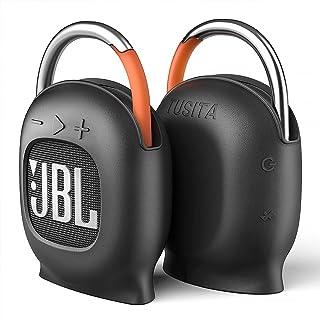 TUSITA [Inbyggd magnet] Silikon Fodral Kompatibel med JBL CLIP 4 Bärbara Högtalare - Stå upp Magnetiskt Skyddshölje Heltäc...