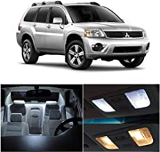 SCITOO 10Pcs White Interior LED Light Package Kit Replacement Bulbs Fits for Mitsubishi endeavor 2005-2011