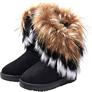 ladies fur boots