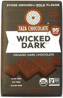 Taza Chocolate Organic Amaze Bar 95% Stone Ground, Wicked Dark, 2.5 Ounce (1 Count), Vegan