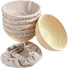 Fdrirect Banneton Bread Proofing Basket, Natural Rattan Estilo Europeu Artesanato Sourdough Bread Bakery Basket - for Prof...