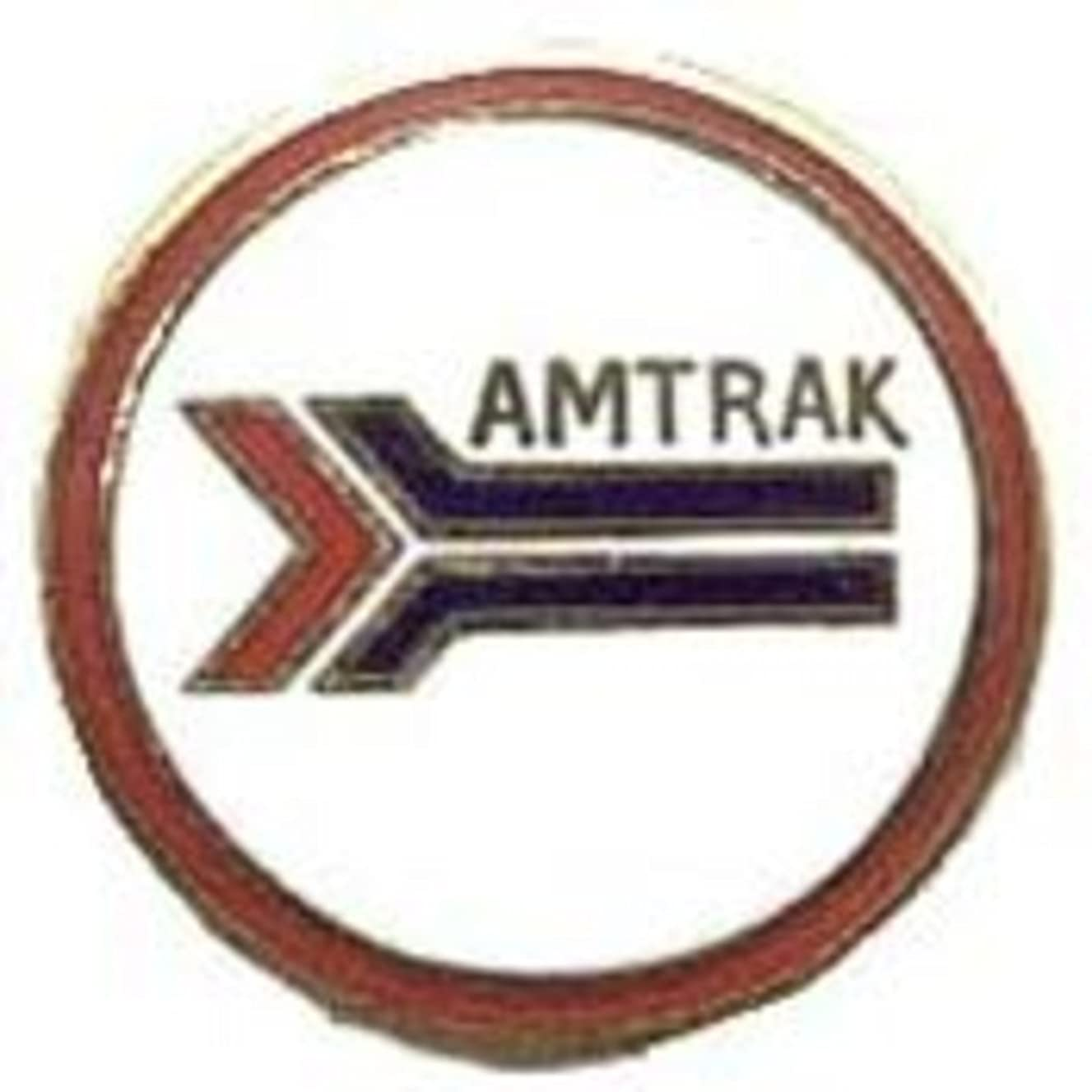EagleEmblems P01045 Pin-RR,Amtrak (Round) (1'')