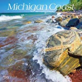 Michigan Coast 2021 12 x 12 Inch Monthly Square Wall Calendar, USA United States of America Midwest State Nature