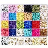 Flysee Niños Juguete de Cuentas Coloridas Abalorios Hacer Pulseras Collar de Bricolaje Cuentas de Arcilla de Joyas DIY Manualidad Fabricación de Joyas para Niños Adultas