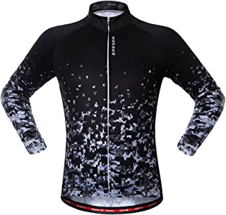 WOLFBIKE Men's Cycling Short Sleeve Jersey + 3D Padded Shorts Set