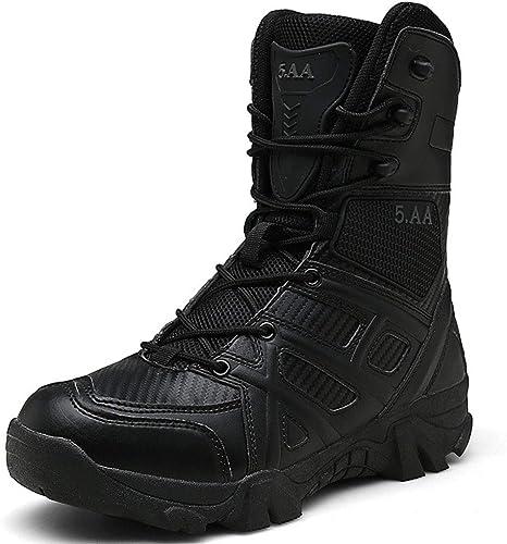 Hommes Bottes De Combat Combat Jungle Delta Forces Spéciales Bottes Tactiques Botte en Cuir Militaire Armée en Plein Air Armée Chaussures à Lacets Patrouille Sécurité Antidérapante Chaussure,noir,47  réductions incroyables