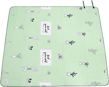 Picknickdecke doppelseitig Feuchtigkeitspad Frisches Minzgrün Tragbare Picknickmatte Faltbare Faltbare Faltbare Rasenmatte Picknickdecke (größe   L) B07MBG8S1K | Neueste Technologie  eb26b3