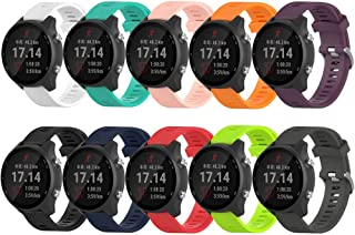 ZSZCXD Compatible for Garmin Forerunner 245/245M, 20mm Width Silicone Wristband Replacement Watch Band for Garmin Forerunner 245/245M/645 Smart Watch