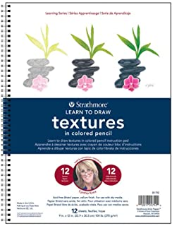 Strathmore Learning Series Textures Pencil, Multi-Colour, 30.48 x 23.62 x 1.52 cm