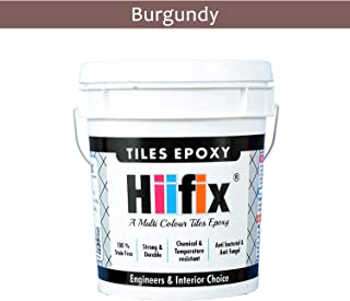 HIIFIX Tiles Epoxy, Epoxy Grout, Epoxy Joint Filler, Best For Tiles and Stones (5 KG) (Resin + Hardner + Filler) (Burgundy)
