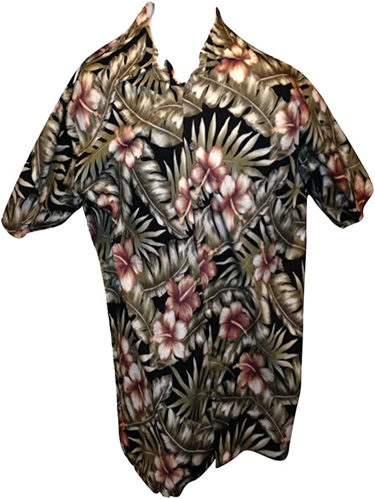 Eddie-D Big and Tall Hawaiian Shirts in Vibrant Colors All Cotton by