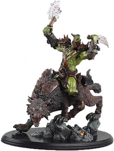 LBYMYB Spielzeug Modell Anime Charaktere World of Warcraft Souvenirs Sammlerstücke Kunsthandwerk Geschenke Gold Wolf Riding 26cm Spielzeugstatue