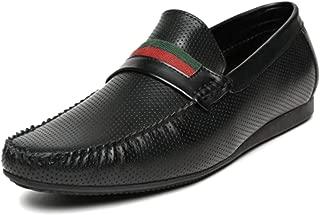 San Frissco Men's Black Leather Formal Loafers - 9 UK