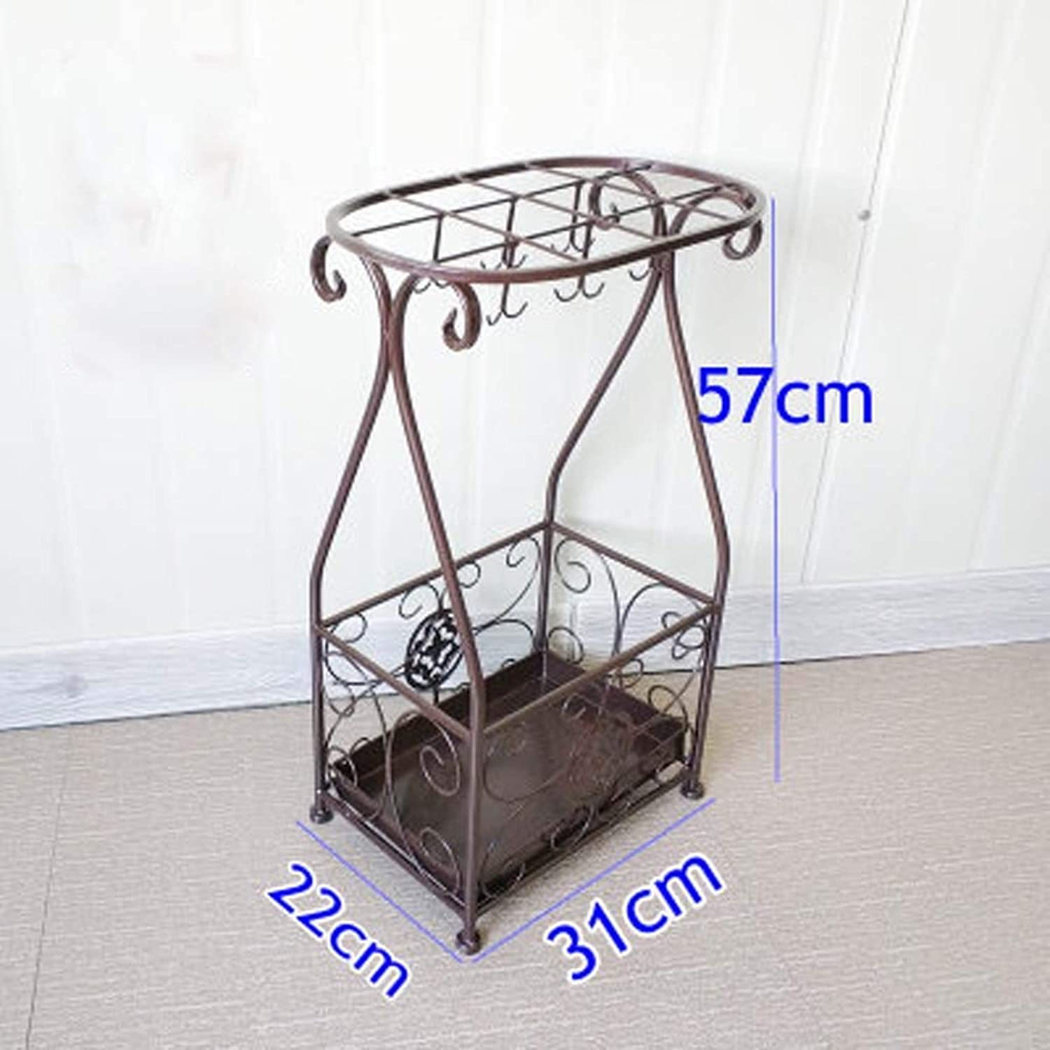 Lsxlsd Umbrella Barrel Umbrella Tub Rectangular Hollow Umbrella Stand Iron Creative Rack Umbrella Stand .(22x31x57cm