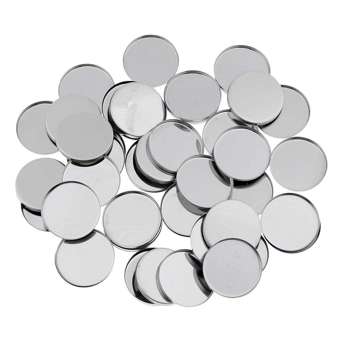 T TOOYFUL 磁気アイシャドウパレットのための50個のラウンド空の金属メーキャップパン36ミリメートル